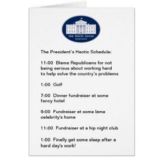 Obama - le golfeur/Collecteur de fonds-dans-Chef Carte De Vœux