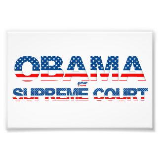 Obama pour l'affiche de court suprême photo