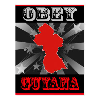 Obéissez la Guyane Carte Postale