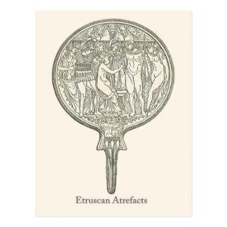 Objets façonnés 4 d'Etruscan Carte Postale