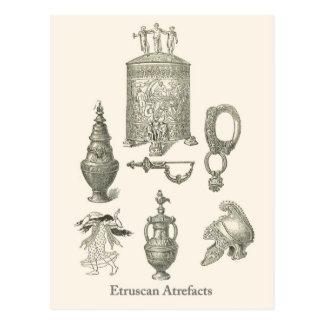 Objets façonnés 6 d'Etruscan Carte Postale