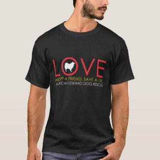 Obscurité de chemise d'amour d'Eskie T-shirt