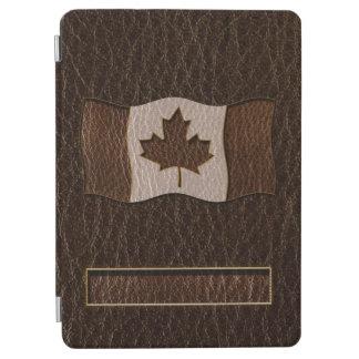 Obscurité simili cuir de drapeau du Canada Protection iPad Air