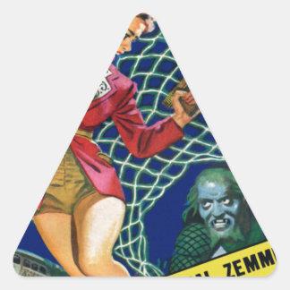 Observez !  Un filet ! Sticker Triangulaire