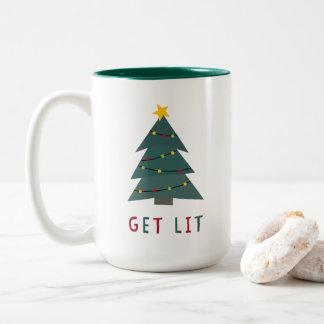 Obtenez au Lit | Noël drôle Tasse 2 Couleurs