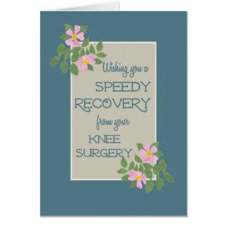Obtenez bien, carte de chirurgie de genou, Dogrose