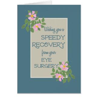 Obtenez bien, carte de chirurgie d'oeil, Dogroses