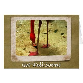 Obtenez le flamant bientôt rose bon carte de vœux