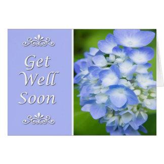 Obtenez le puits bientôt avec l'hortensia bleu carte