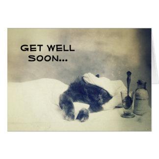 Obtenez le puits bientôt (le chat malade) carte