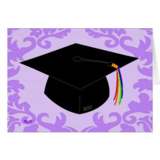Obtention du diplôme 2010 de lavande carte de vœux