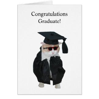 Obtention du diplôme drôle carte de vœux