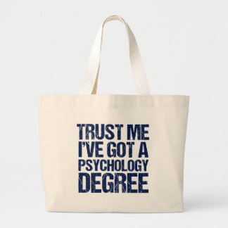 Obtention du diplôme drôle de psychologie grand tote bag