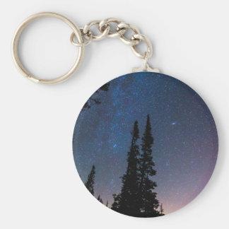 Obtention perdue dans un ciel nocturne porte-clés