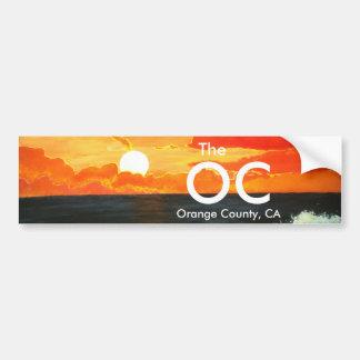 OC het Oranje Art. van de Sticker van de Bumper va Bumpersticker