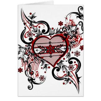 Occasion de félicitations d'amour de vacances de carte