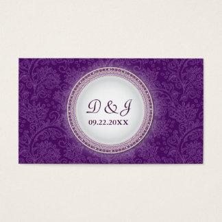 Occasion spéciale Placecard de plaque violette Cartes De Visite