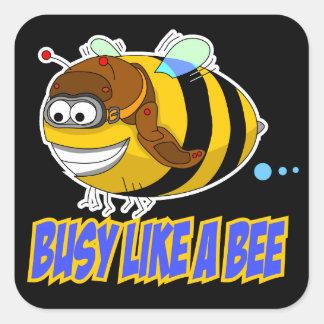 Occupé comme un autocollant d'abeille