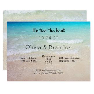 Oceaan Strand zijn wij de Gehuwde Uitnodiging van