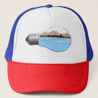 Océan d'ampoule de camionneur de casquette