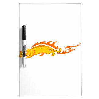 Ocelot en flammes tableaux blancs  effaçables à sec