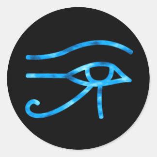 Oeil d'autocollant de Horus Sticker Rond