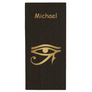 Oeil de symbole d'Egyptien de horus Clé USB 2.0 En Bois