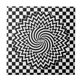 Oeil hypnotique petit carreau carré