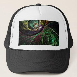 Oeil pour observer le casquette d'art abstrait