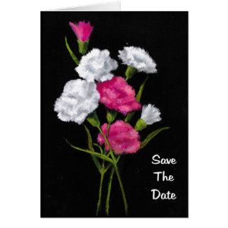 Oeillets : Rose, blanc : Réservez la date Carte