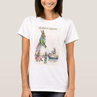 Oeuf coloré par enfants de lapin de Pâques T-shirt