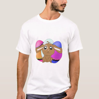 Oeufs et T-shirt détruit par lapin