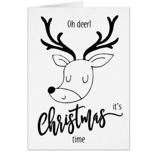 Oh illustration mignonne drôle de carte de Noël de