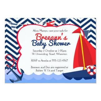 Oh invitation nautique de baby shower de voilier