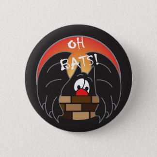 Oh M. Batty de battes | Halloween Badge Rond 5 Cm