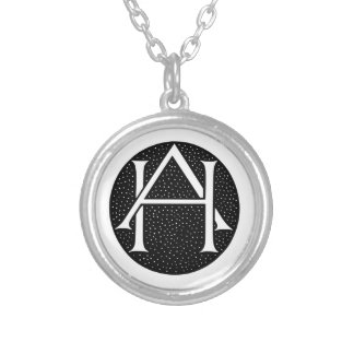 OH monogramme Pendentif Rond
