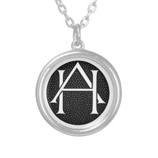 OH monogramme pour les initiales/lettres OH Colliers