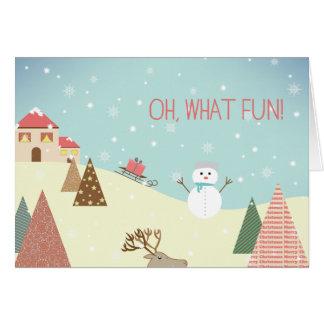 Oh quelle carte de Noël de vacances de bonhomme de