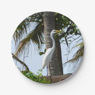 Oiseau côtier de héron assiettes en papier
