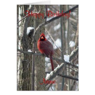 oiseau de Cardinal-chanson dans la carte