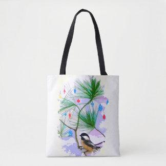 Oiseau de Chickadee dans le sac fourre-tout à
