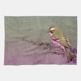 Oiseau de fleur de serviette de cuisine joli