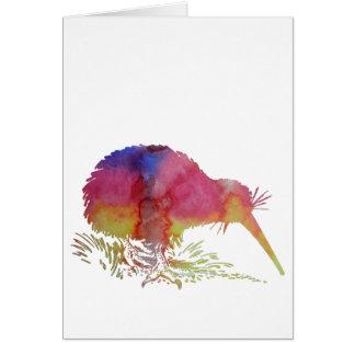 Oiseau de kiwi carte