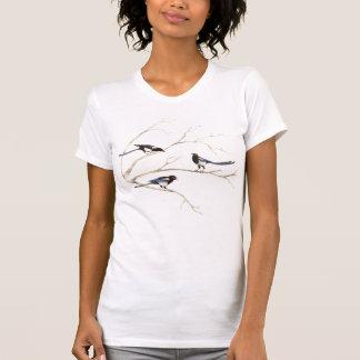 Oiseau de pie, nature, faune, T-shirt de dames