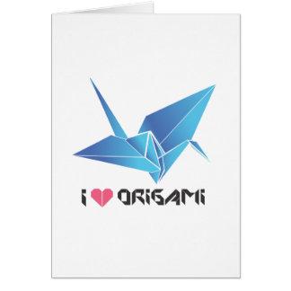 oiseau d'origami carte