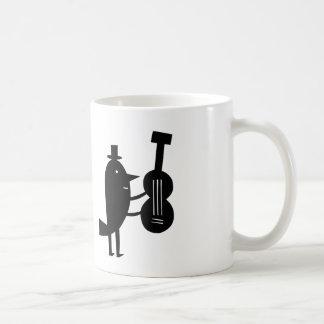 Oiseau musical mug blanc