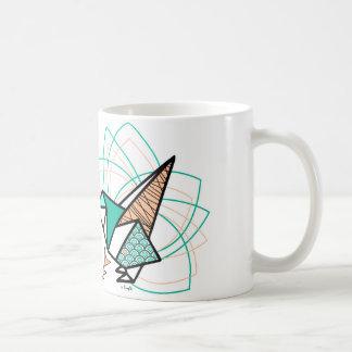 Oiseau origami mug