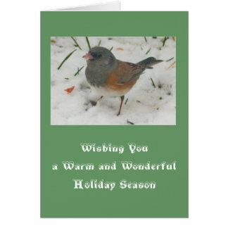 Oiseau sauvage dans la carte de modèle de vacances