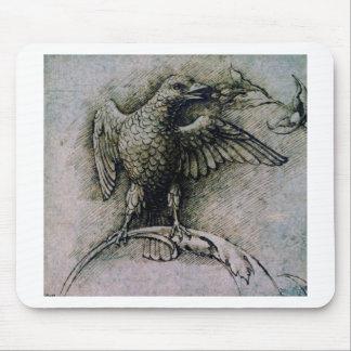Oiseau sur une branche par Andrea Mantegna Tapis De Souris