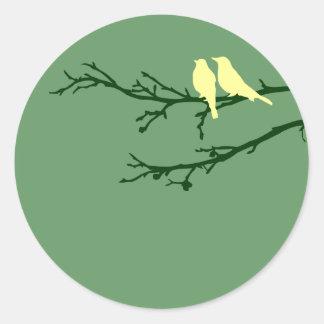 oiseaux de mod sticker rond